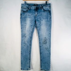 GRACE | Distressed Skinny Jeans #UpCycle Sz 31x29